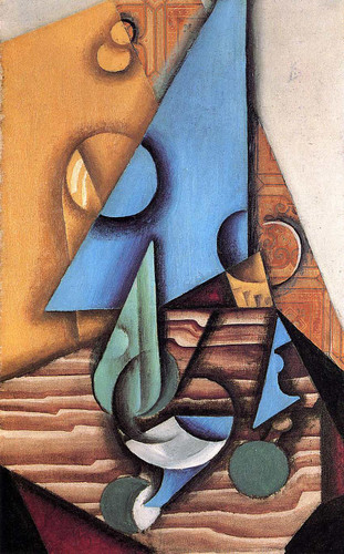 Bottle And Glass On A Table 1914 By Juan Gris Art Reproduction from Wanford