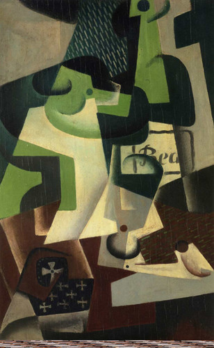Bottle Of Beaune And A Fruit Dish 1917 By Juan Gris Art Reproduction from Wanford