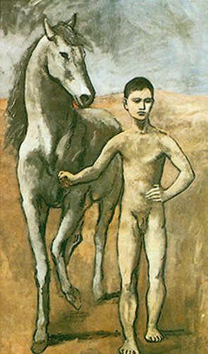 Boy Leading A Horse By Pablo Picasso Art Reproduction from Wanford