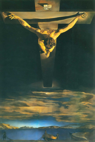 Christ Of St John Of The Cross 1951 By Salvador Dali