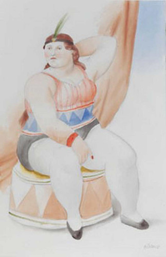 Circus Woman4 By Fernando Botero Art Reproduction from Wanford