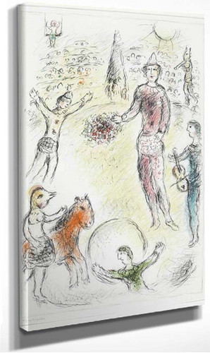 Clowns Musicians 1980 By Marc Chagall