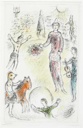 Clowns Musicians 1980 By Marc Chagall Art Reproduction from Wanford