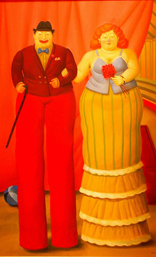 Clowns On Stilts By Fernando Botero Art Reproduction from Wanford