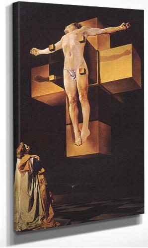 Crucifixion Corpus Hypercubicus 1954 By Salvador Dali