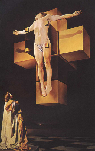 Crucifixion Corpus Hypercubicus 1954 By Salvador Dali Art Reproduction from Wanford