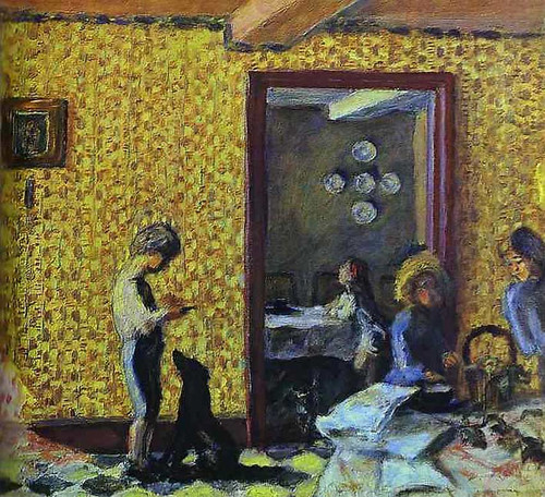 The Terrasse Children With Black Dog 1902 By Pierre Bonnard Art Reproduction from Wanford.