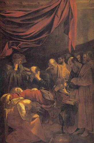 Death Of The Virgin By Caravaggio Art Reproduction from Wanford