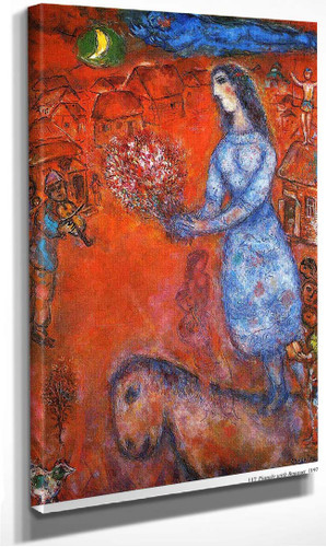 Fiancee With Bouquet 1977 By Marc Chagall