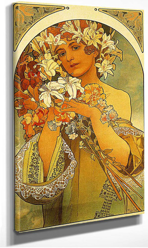 Flower 1897 By Alphonse Mucha