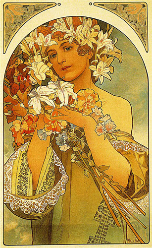 Flower 1897 By Alphonse Mucha Art Reproduction from Wanford
