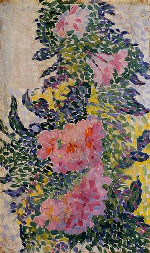 Flowers By Henri Edmond Cross Art Reproduction from Wanford
