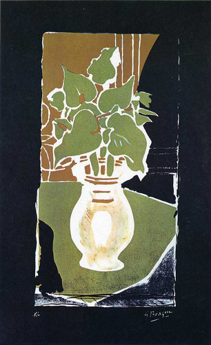 Leaves In Color Of Light 1953 By Georges Braque Art Reproduction from Wanford