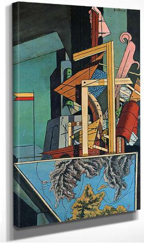 Melancholy Of Department 1916 By Giorgio De Chirico