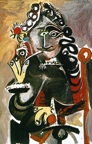 Musketeer With Pipe By By Pablo Picasso Art Reproduction from Wanford