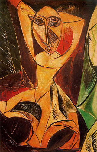 Nude With Raised Arms The Avignon Dancer 1907 By Pablo Picasso Art Reproduction from Wanford