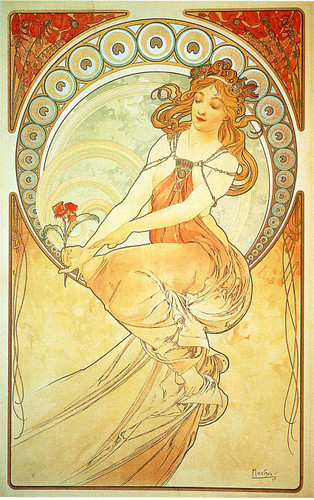 Painting By Alphonse Mucha Art Reproduction from Wanford