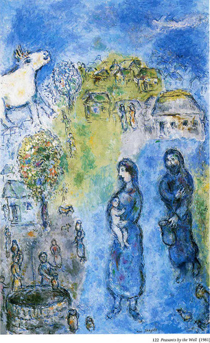Peasants By The Well 1981 By Marc Chagall Art Reproduction from Wanford