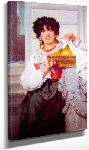 Pisan Girl With Basket Of Oranges And Lemons By Pierre August Cot