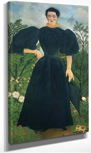 Portrait Of A Woman By Henri Rousseau