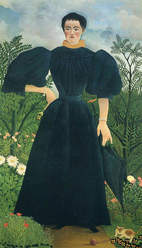 Portrait Of A Woman By Henri Rousseau Art Reproduction from Wanford