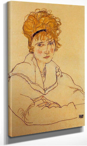 Portrait Of Edith Schiele 1918 By Egon Schiele