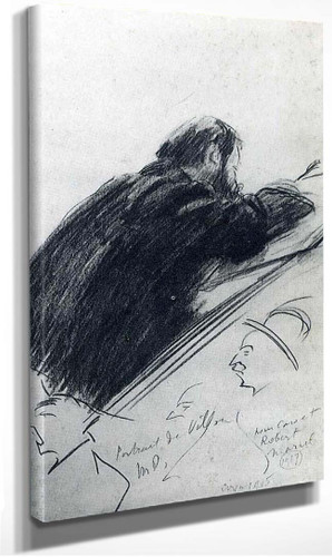 Portrait Of Jacques Villon By Duchamp Marcel