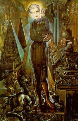 Portrait Of Mrs Harrison Williams By Salvador Dali Art Reproduction from Wanford