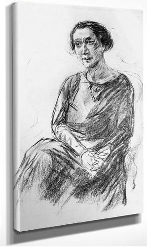 Portrait Of Mrs Irene Triesch By Max Liebermann