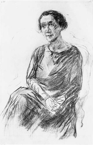Portrait Of Mrs Irene Triesch By Max Liebermann Art Reproduction from Wanford