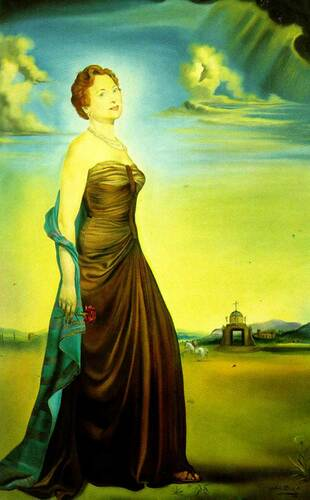 Portrait Of Mrs Reeves By Salvador Dali Art Reproduction from Wanford