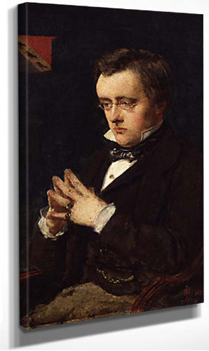 Portrait Of Wilkie Collins By John Everett Millais