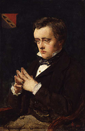 Portrait Of Wilkie Collins By John Everett Millais Art Reproduction from Wanford