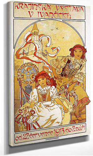 Regional Exhibition In Ivancice 1912 By Alphonse Mucha