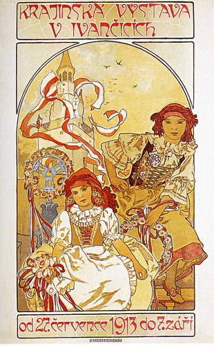 Regional Exhibition In Ivancice 1912 By Alphonse Mucha Art Reproduction from Wanford