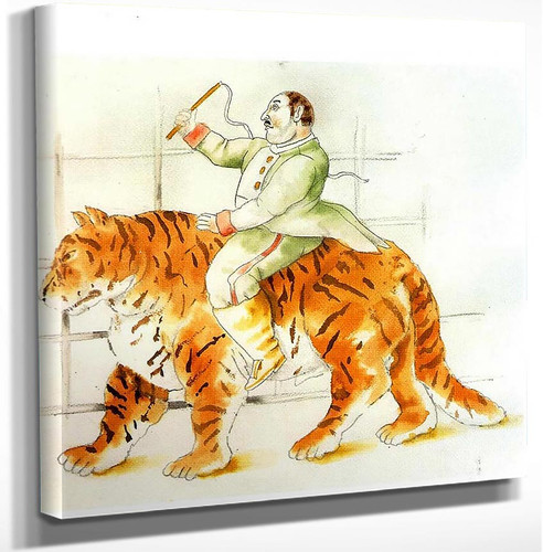 Trainer And Tiger By Fernando Botero Art Reproduction from Wanford.