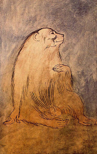 Seated Monkey 1905 By Pablo Picasso Art Reproduction from Wanford