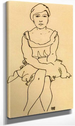 Sitting Woman 1918 By Egon Schiele