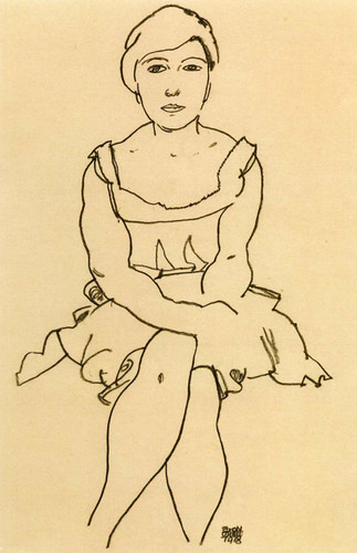Sitting Woman 1918 By Egon Schiele Art Reproduction from Wanford