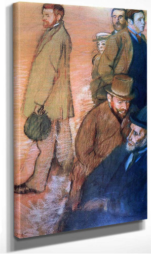 Six Friends Of The By 1885 By Edgar Degas