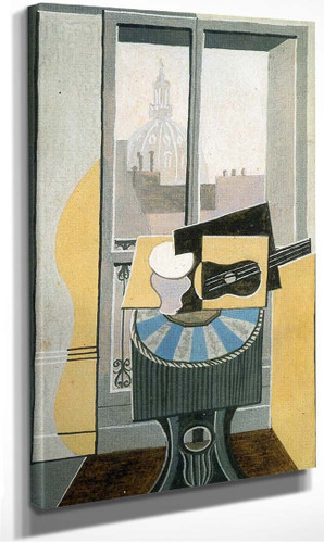 Still Life In Front Of A Window Overlooking The Eglise St Augustin 1919 By Pablo Picasso
