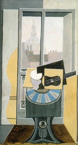 Still Life In Front Of A Window Overlooking The Eglise St Augustin 1919 By Pablo Picasso Art Reproduction from Wanford