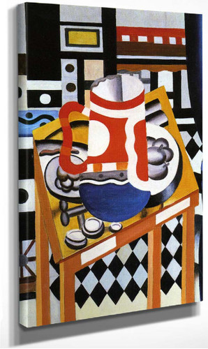 Still Life In The Tankard Final State 1921 By Fernand Leger