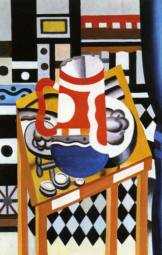 Still Life In The Tankard Final State 1921 By Fernand Leger Art Reproduction from Wanford