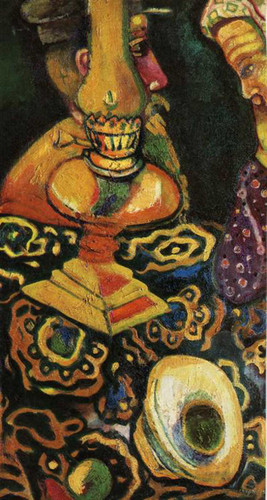 Still Life With Lamp 1910 By Marc Chagall Art Reproduction from Wanford