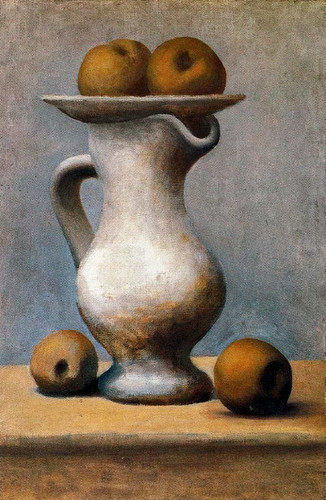 Still Life With Pitcher And Apples 1919 By Pablo Picasso Art Reproduction from Wanford