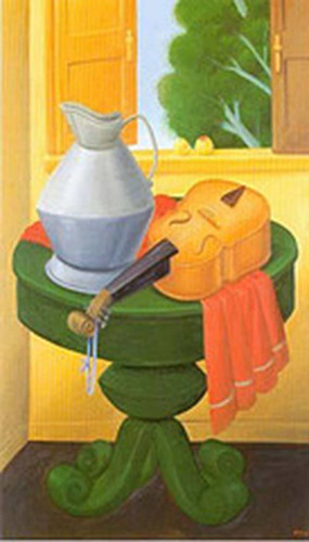 Still Life With Violin2 By Fernando Botero Art Reproduction from Wanford
