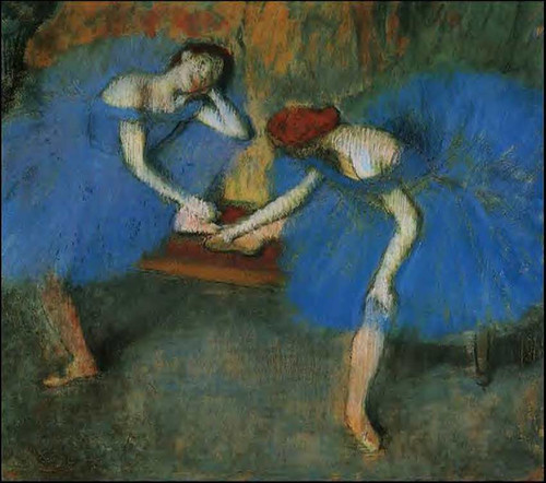 Two Dancers In Blue By Edgar Degas Art Reproduction from Wanford.
