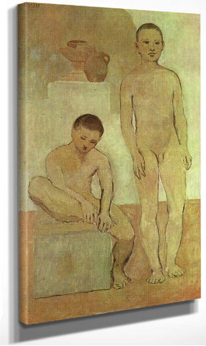 Teenagers 1906 1 By Pablo Picasso