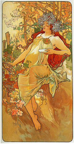 The Autumn 1896 By Alphonse Mucha Art Reproduction from Wanford